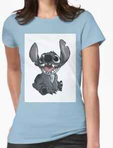 stitch-shaded Womens Fitted T-Shirt