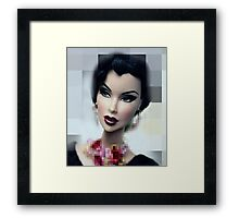 Doll with  red mouth Framed Print