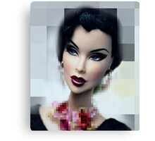 Doll with  red mouth Canvas Print