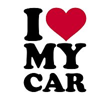 I love my car Photographic Print