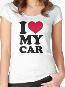 I love my car Women's Fitted Scoop T-Shirt