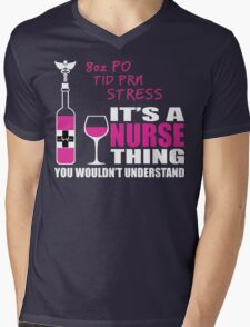 8oz PO TID PRN Stress - Nurse Humor T Shirt Mens V-Neck T-Shirt