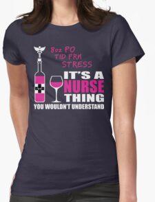 8oz PO TID PRN Stress - Nurse Humor T Shirt Womens Fitted T-Shirt