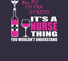 8oz PO TID PRN Stress - Nurse Humor T Shirt Womens Fitted T-Shirt