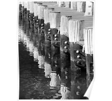 Pier Reflection Poster