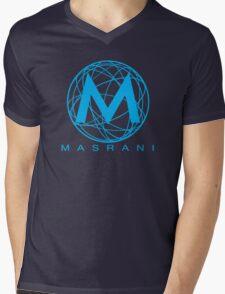Masrani Blue Mens V-Neck T-Shirt