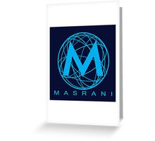 Masrani Blue Greeting Card