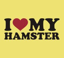 I love my Hamster One Piece - Short Sleeve