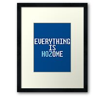 EVERYTHING IS HOZOME Framed Print