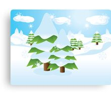 Fir tree on slope Canvas Print