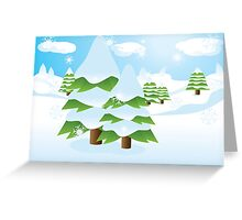 Fir tree on slope Greeting Card