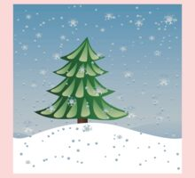 Fir tree on slope Kids Clothes