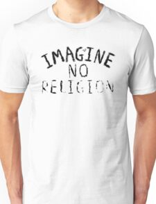 Imagine NO Religion (Faded Art) Unisex T-Shirt