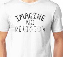 Imagine NO Religion (Faded Art) Unisex T-Shirt