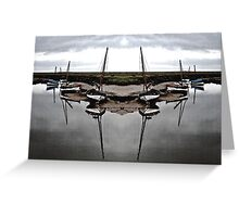 Boat Symmetry Greeting Card