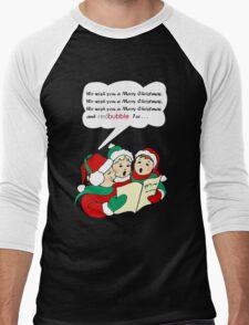 We Wish You a Merry Christmas Men's Baseball ¾ T-Shirt