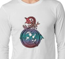 Celtic Knot Bird & Snake Long Sleeve T-Shirt