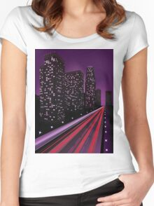 Night city 2 Women's Fitted Scoop T-Shirt