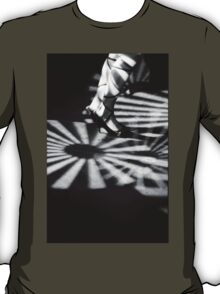 Feet of girl dancing in nightclub lights black and white silver gelatin 35mm film analog photograph T-Shirt
