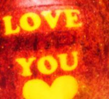 Apple I Love You Sticker