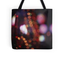 Red purple abstract photo of bokeh lights square Hasselblad 6x6 medium format film analogue photograph Tote Bag