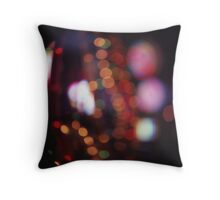 Red purple abstract photo of bokeh lights square Hasselblad 6x6 medium format film analogue photograph Throw Pillow