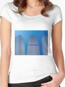 Skyscrapers 2 Women's Fitted Scoop T-Shirt