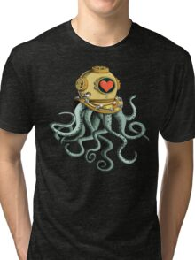 octopus and his soulmate Tri-blend T-Shirt