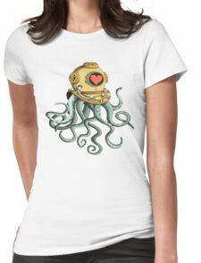 octopus and his soulmate Womens Fitted T-Shirt