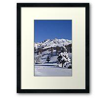 A snowy landscape Framed Print