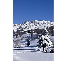 A snowy landscape Photographic Print
