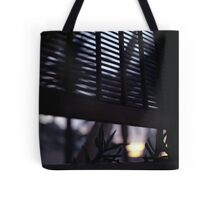 Beach house window at dawn Ibiza Spain square Hasselblad medium format film analog photographer Tote Bag