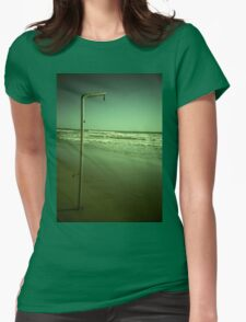 Beach shower in surreal green 35mm xpro cross processed lomographic film lomography analog photo Womens Fitted T-Shirt