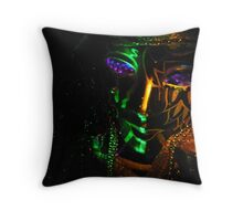 Fat  Tuesday  Night Throw Pillow