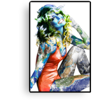 "Title: ""Proud Of What I Have"", Pop Culture Sex Symbol Inspired, Earth Girl Canvas Print"