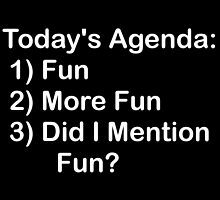 Today's Agenda: Fun by geeknirvana