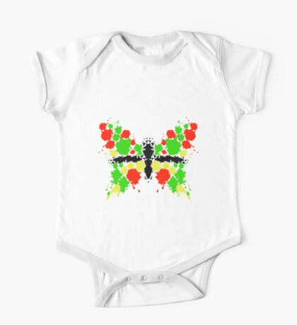 Symmetrical Butterfly Painting One Piece - Short Sleeve