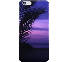 Palm tree on beach Ibiza silhouette against dusk sunset sky square medium format film analogue photos iPhone Case/Skin