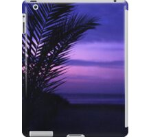 Palm tree on beach Ibiza silhouette against dusk sunset sky square medium format film analogue photos iPad Case/Skin