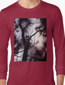 Tree branches on summer evening  in Spain square medium format film analogue photographer Long Sleeve T-Shirt