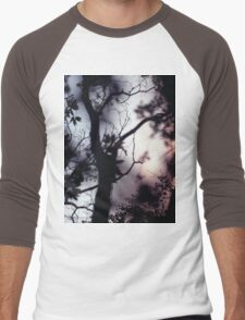 Tree branches on summer evening  in Spain square medium format film analogue photographer Men's Baseball ¾ T-Shirt