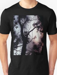 Tree branches on summer evening  in Spain square medium format film analogue photographer Unisex T-Shirt