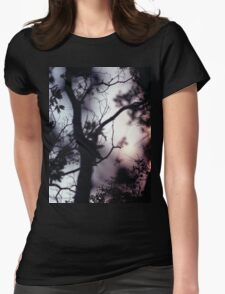 Tree branches on summer evening  in Spain square medium format film analogue photographer Womens Fitted T-Shirt