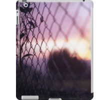Wire fence and foliage on summer evening  in Spain square medium format film analogue photo iPad Case/Skin