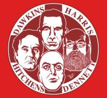 The Four Horsemen: New Atheists (Scarlet) Kids Tee