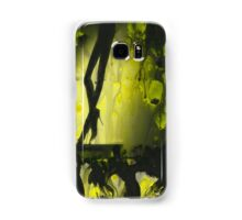 Yellow water color painted silver gelatin black and white print  of legs of female dancer analog film photo Samsung Galaxy Case/Skin
