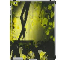 Yellow water color painted silver gelatin black and white print  of legs of female dancer analog film photo iPad Case/Skin
