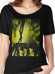 Yellow water color painted silver gelatin black and white print  of legs of female dancer analog film photo Women's Relaxed Fit T-Shirt