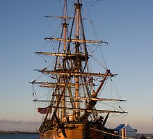 HM Bark Endeavour by Jim Wright