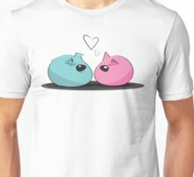 Pink and Blue Nesting Rock Guinea Pigs Unisex T-Shirt